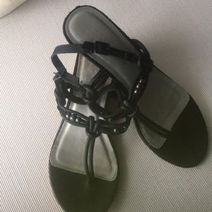 Shoes - Blank leather strap sandal